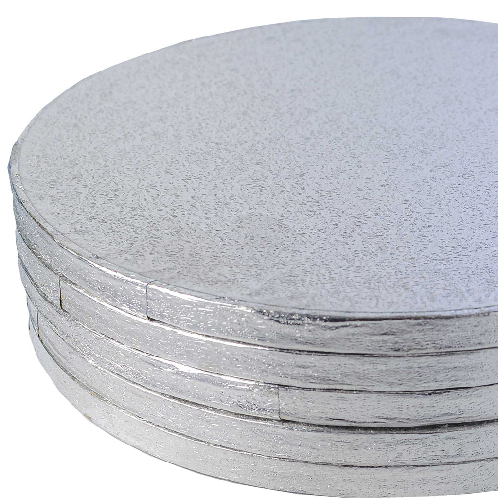 Round Silver Cake Board - Range of Sizes - SimplyCakeCraft