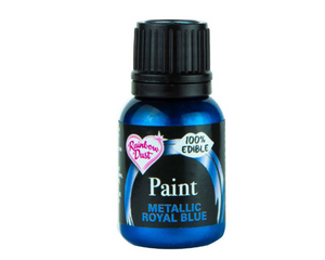 Metallic Royal Blue Rainbowdust Food Paint - SimplyCakeCraft