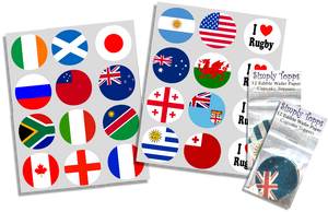 Rugby World Cup 2019 Flag Cupcake Toppers