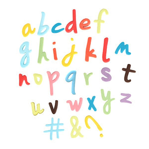 Push Easy Lowercase Script Alphabet & Symbols Cutter Set - SimplyCakeCraft