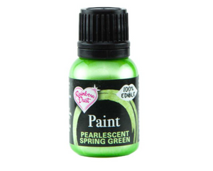 Pearlescent Spring Green Rainbowdust Food Paint - SimplyCakeCraft