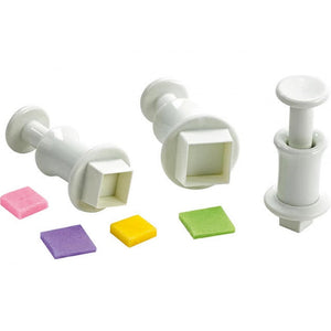 Square Plunger Cutter Set of 3 - SimplyCakeCraft