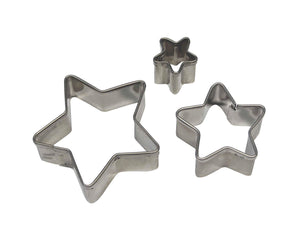 PME Star Stainless Steel Cutters Set of 3 - SimplyCakeCraft