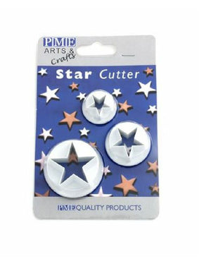 PME Plastic Star Cutter Set of 3 - SimplyCakeCraft