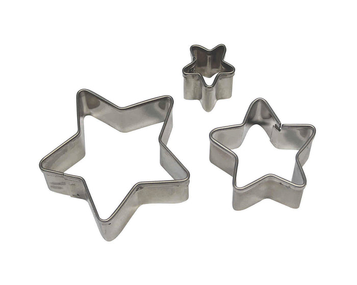 PME Star Stainless Steel Cutters Set of 3
