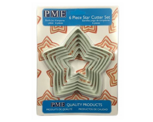 PME Star Plastic Cutters Set of 6 -  - SimplyCakeCraft