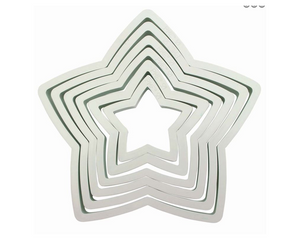 PME Star Plastic Cutters Set of 6 - SimplyCakeCraft
