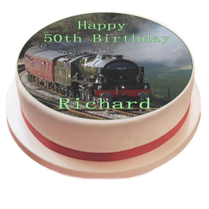 Personalised Steam Train Cake Topper - SimplyCakeCraft