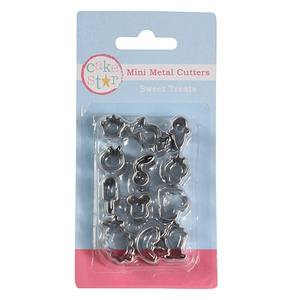 12 Piece Sweet Treats Mini Metal Cutters - SimplyCakeCraft