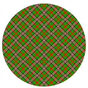 Scottish Tartan Green Printed Sugar Icing Sheet - SimplyCakeCraft
