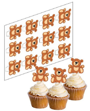 Teddy Bear Cupcake Picks - SimplyCakeCraft
