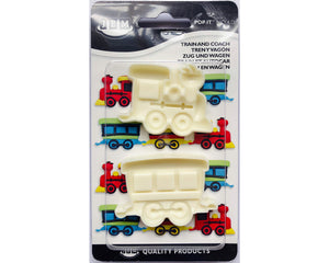 JEM Train & Coach (Set of 2) Pop-it Mold - SimplyCakeCraft