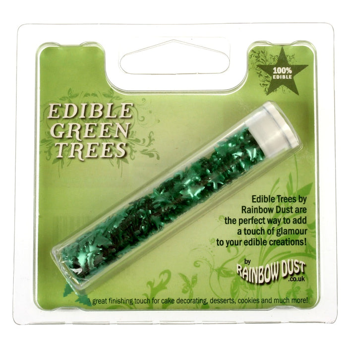 Edible Green Trees Confetti - Rainbowdust Ltd