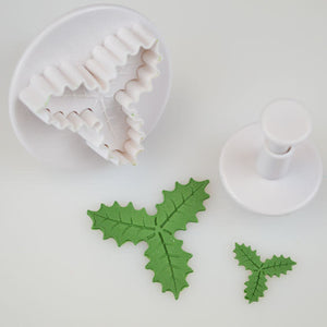 Cake Star Triple Holly Leaf Plunger Cutter Set of 2 - SimplyCakeCraft