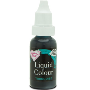RainbowDust - Turquoise - Liquid Colour 16ml - SimplyCakeCraft