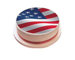USA / American Flag Cake Topper - SimplyCakeCraft