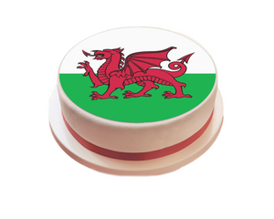 Wales / Welsh Flag Cake Topper - SimplyCakeCraft