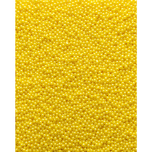 Glimmer Pearls - 3mm Yellow - SimplyCakeCraft