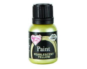 Pearlescent Yellow Rainbowdust Food Paint - SimplyCakeCraft