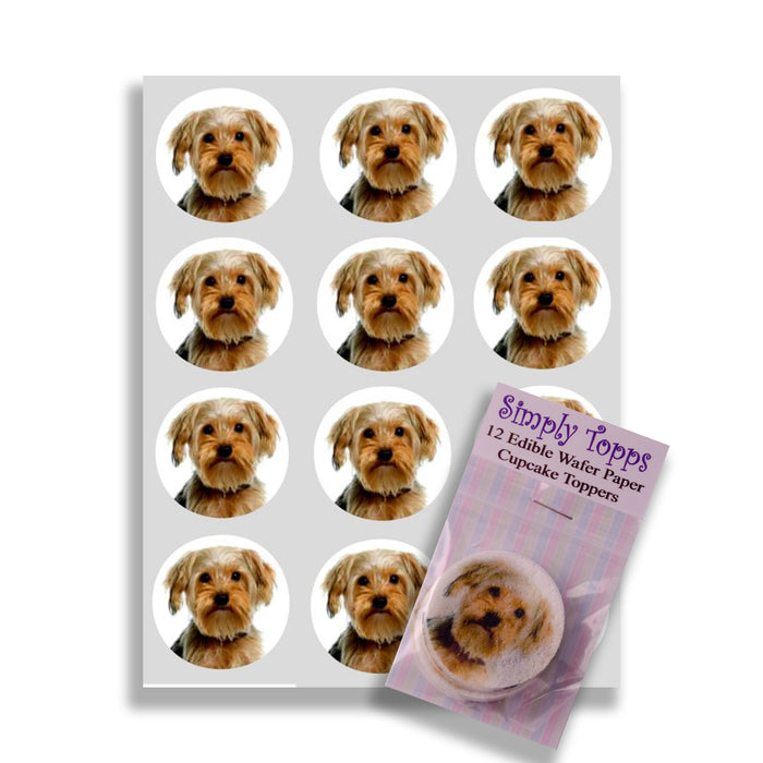 Yorkshire Terrier Cupcake Toppers