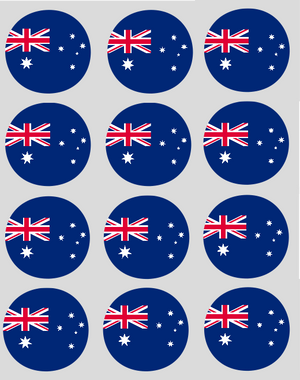Australian Flag Cupcake Toppers - SimplyCakeCraft