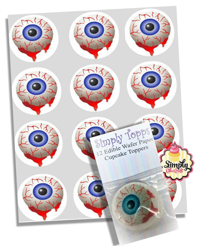 Halloween Blood Eye Cupcake Toppers