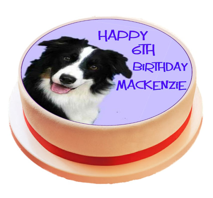 Personalised Border Collie Cake Topper Decoration