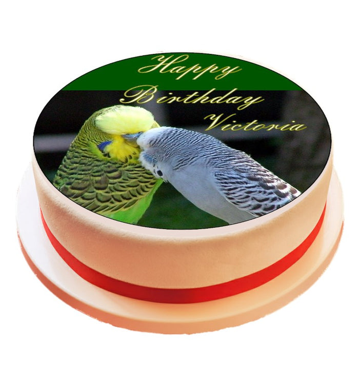 Personalised Budgie Cake Topper