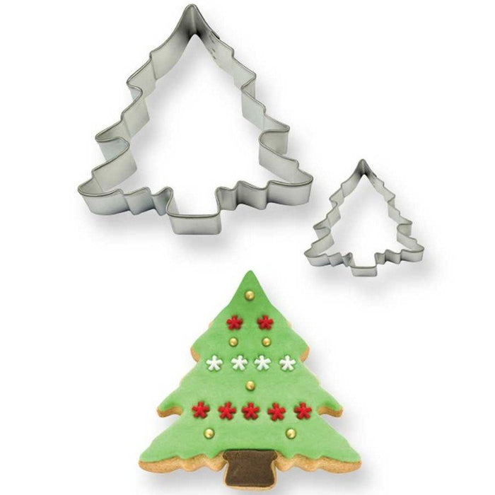 PME Christmas Tree Cookie Cutter Set of 2 (Steel)