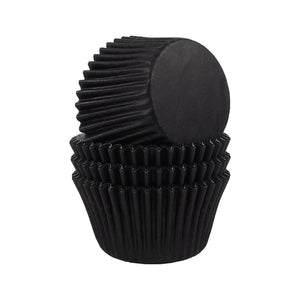 54 Black Cupcake Baking Cases - SimplyCakeCraft