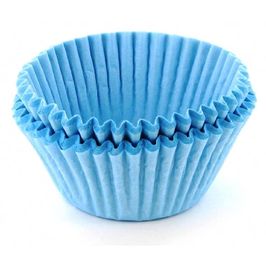 50 Baby Blue Cupcake Baking Cases