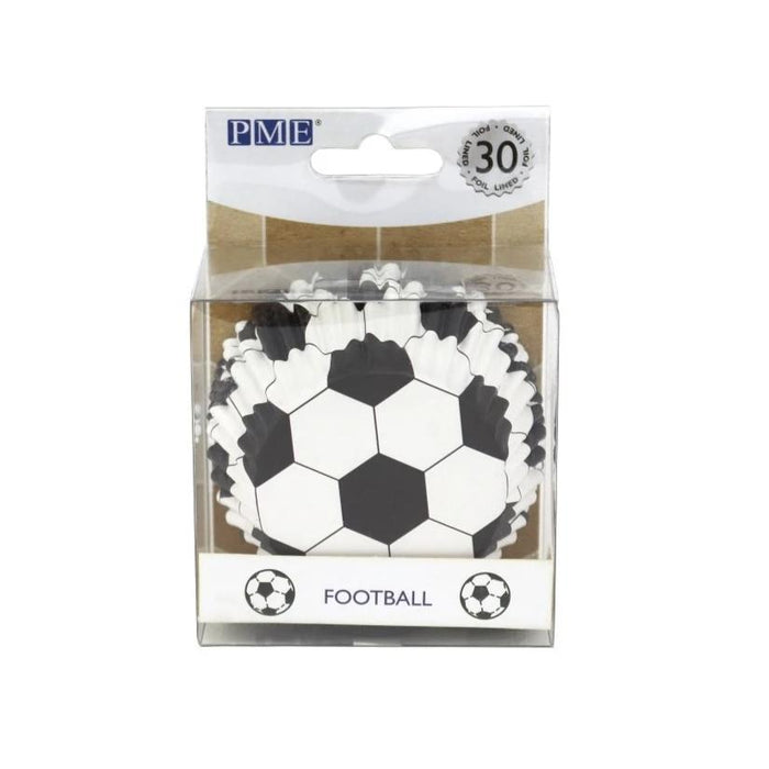 PME Football Foil Cupcake Cases Pack of 30