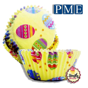 PME Easter Egg Cupcake Cases Pack of 60 - SimplyCakeCraft