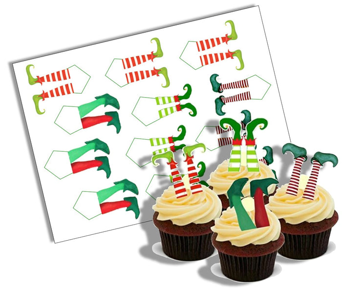 Elf Legs Cupcake Edible Decoration Picks