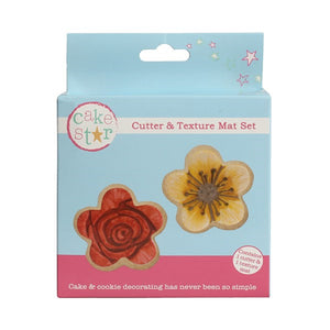Flower Cutter & Texture Mat Set - SimplyCakeCraft