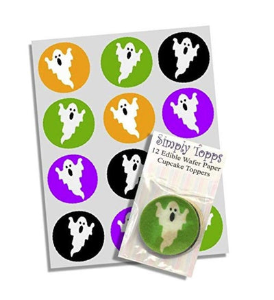 Cupcake Toppers Happy Halloween Bat /& Spider Wafer Edible Decoration 40mm x 12