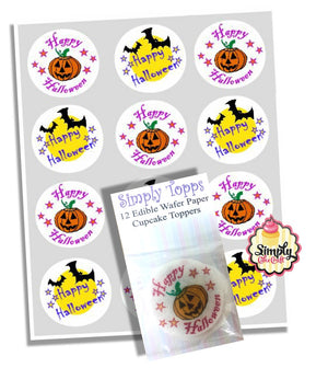 Happy Halloween Cupcake Decoration Toppers - SimplyCakeCraft