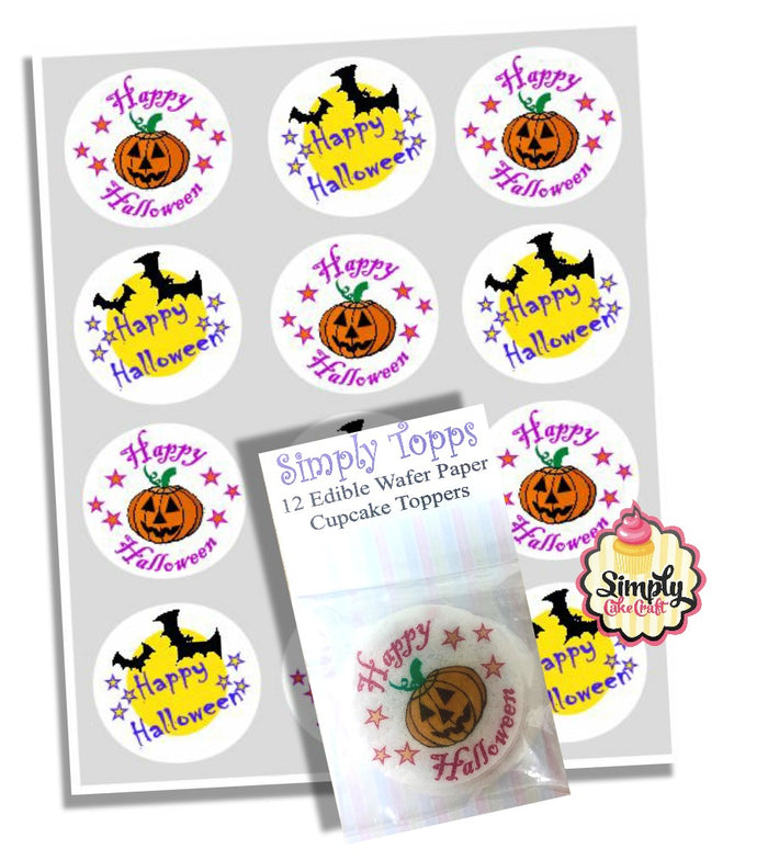 Happy Halloween Cupcake Decoration Toppers