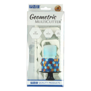 PME Hexagon Geometric Cutter Set of 3 - SimplyCakeCraft