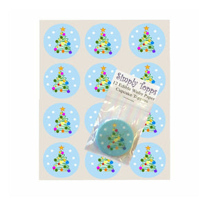 Christmas Tree Cupcake Toppers - SimplyCakeCraft