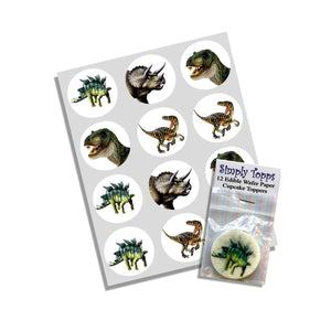 Dinosaurs Cupcake Toppers - SimplyCakeCraft