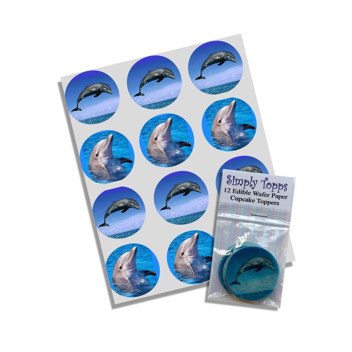 Dolphin Cupcake Toppers