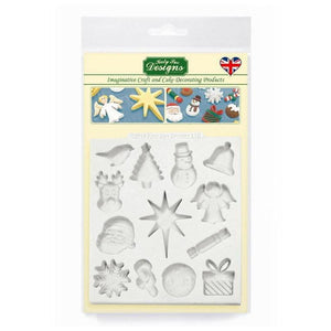 Christmas Embellishments Mould by Katy Sue - SimplyCakeCraft