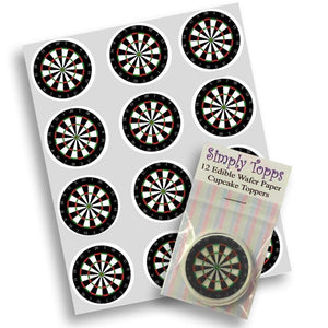 Dart Board Cupcake Toppers