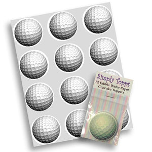 Golf Ball Cupcake Toppers