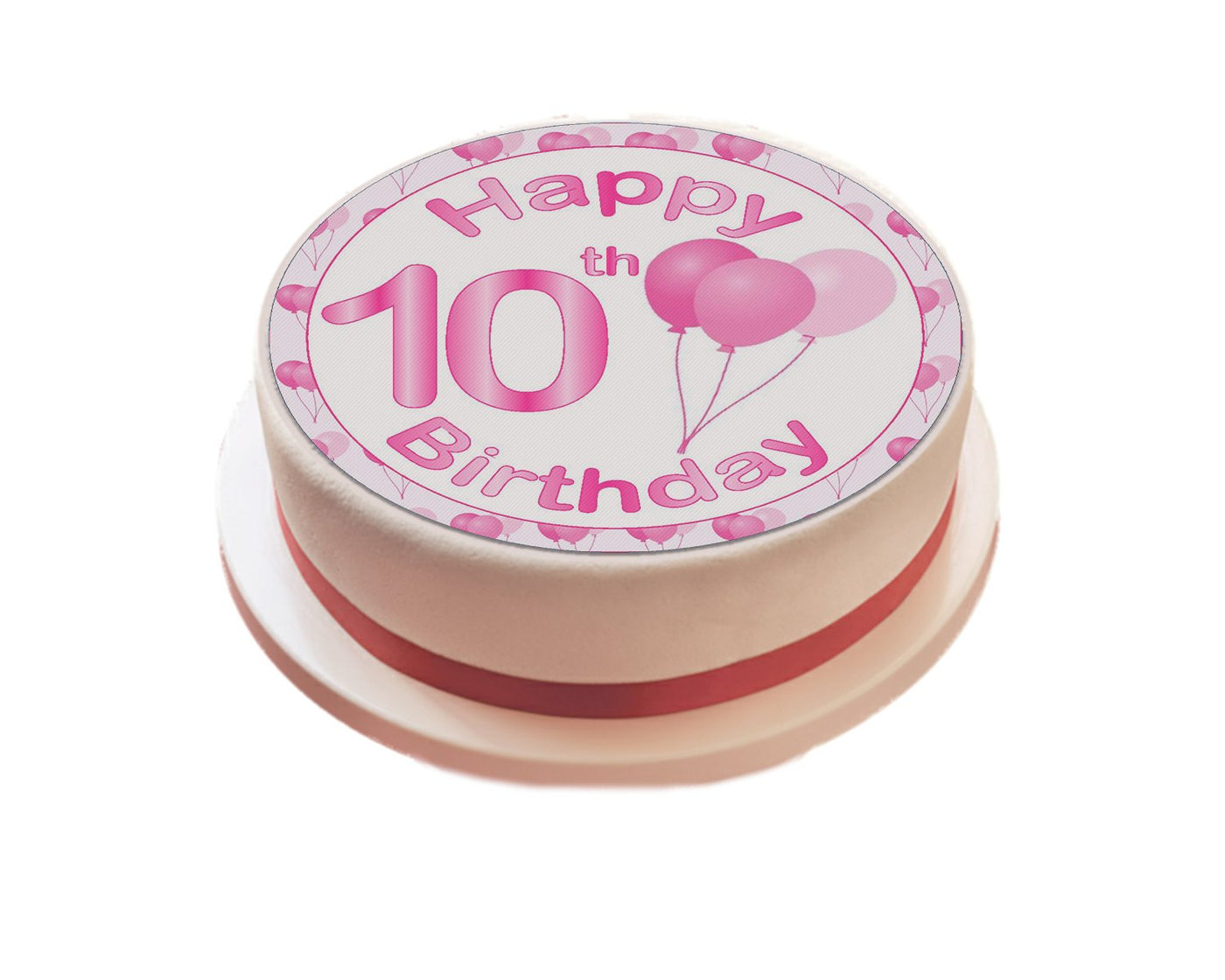 Personalised Pink Happy Birthday Cake Topper