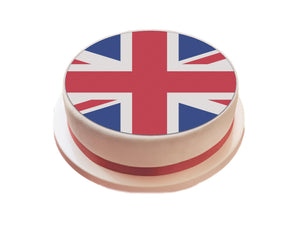 "Union Jack / Great Britain Flag Cake Topper - 7.5"" Circle - SimplyCakeCraft"