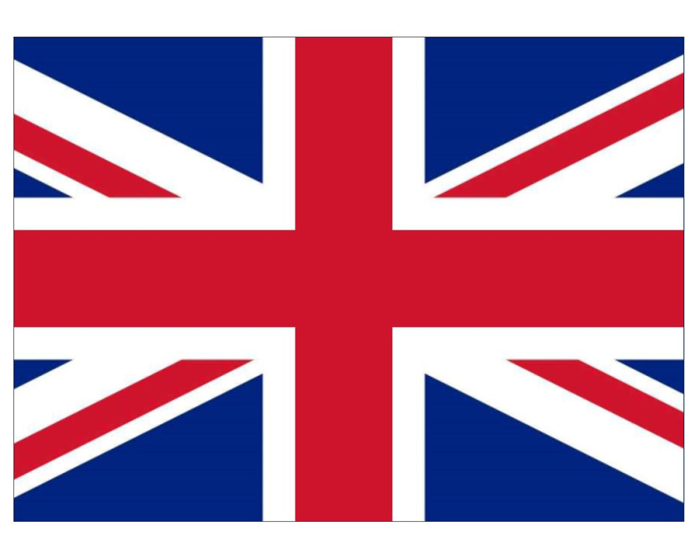 Union Jack / Great Britain Flag Cake Topper