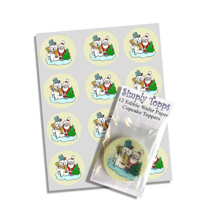 Christmas Scene Cupcake Toppers