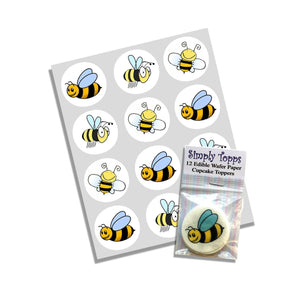 Bumble Bee Cupcake Toppers - SimplyCakeCraft